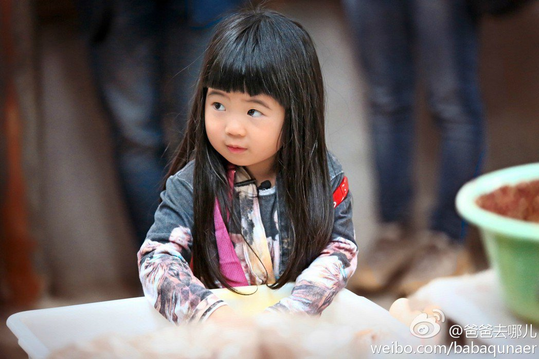 曹格的女兒Grace以前參加陸綜「爸爸去哪兒2」可愛的模樣。 圖/擷自爸爸去哪兒...