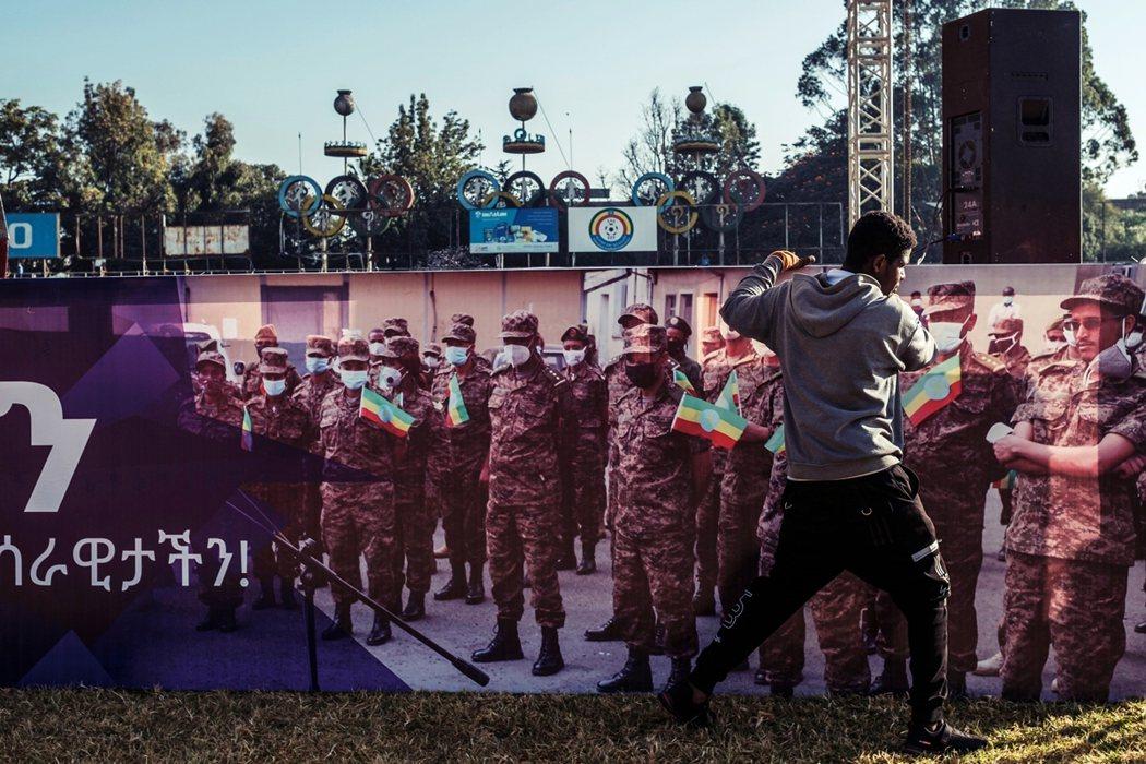 衣索比亞境內的愛國動員。 圖/法新社