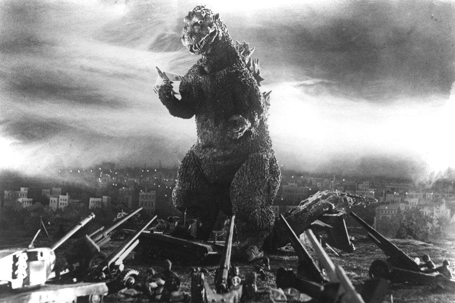 1954年的電影《哥吉拉》劇照。 圖/IMDb