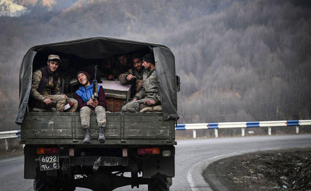 撤回本土的亞美尼亞軍隊。 圖/法新社