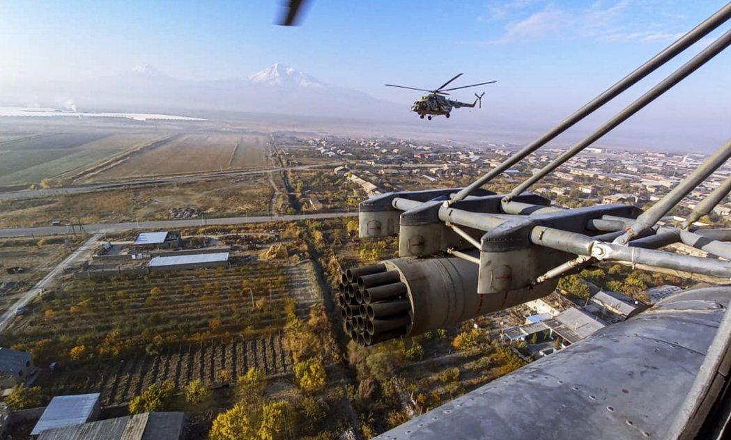 火速入駐的俄軍維和部隊。 圖/歐新社