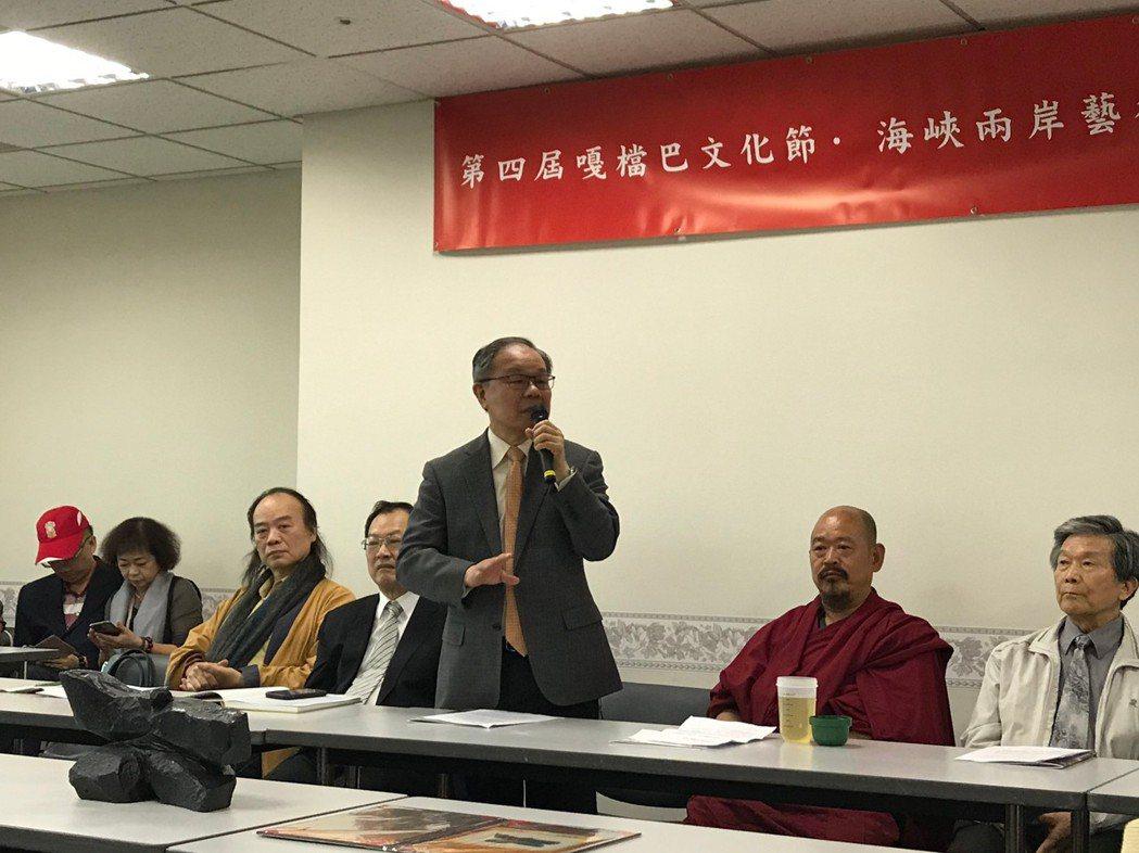 大會主任委員中華民國書學會會長張炳煌教授指出,此次的嘎檔文化節展覽不但將展出兩岸...