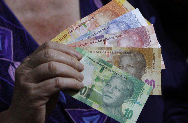 圖為南非幣。美聯社