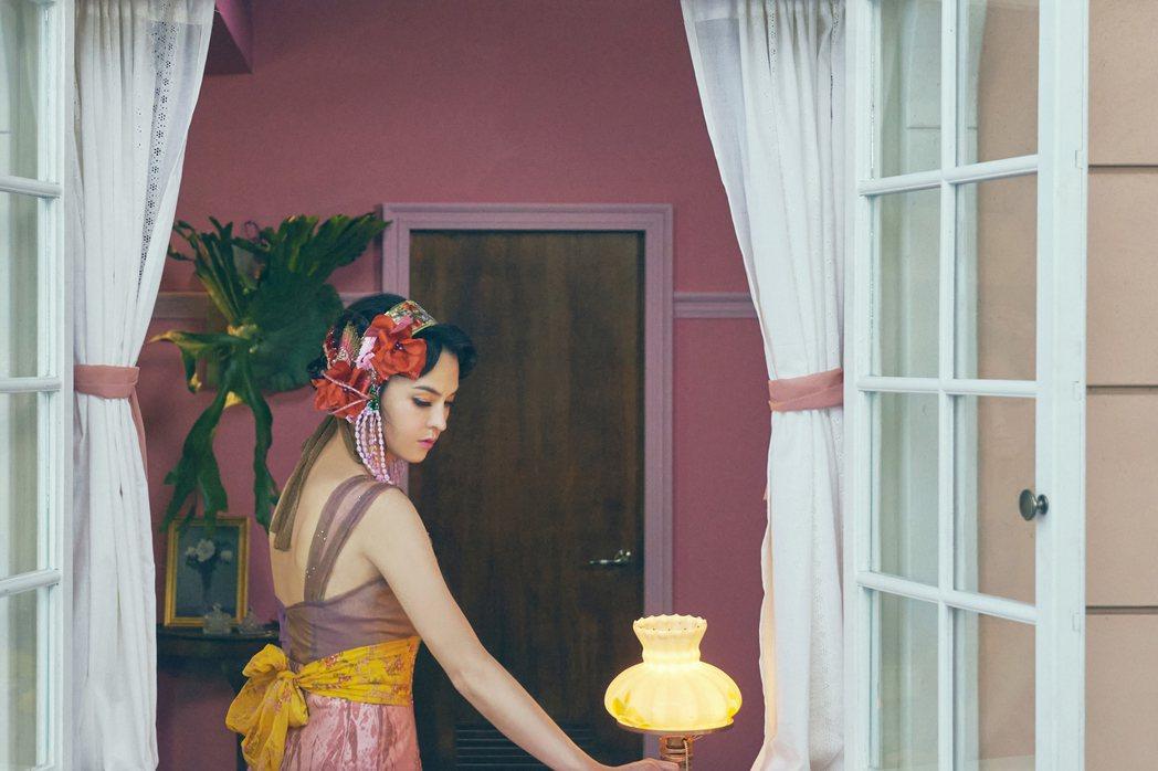 張榕容扮演「唐代仕女俑」。圖/故宮提供