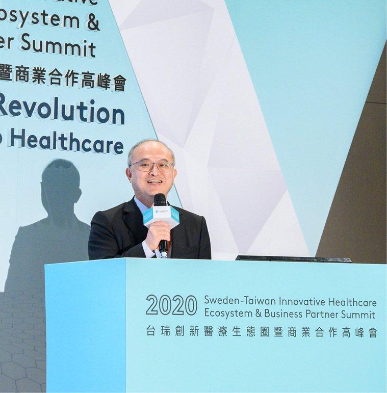 台大醫院院長吳明賢。圖/瑞典貿易暨投資委員會台北辦事處提供
