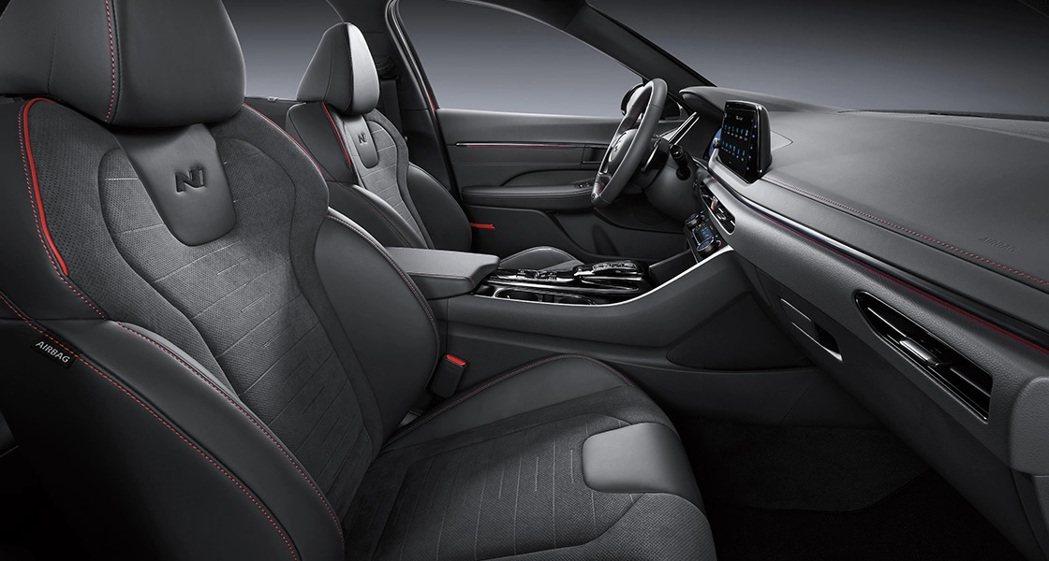 全新Hyundai Sonata N Line座椅。 摘自Hyundai