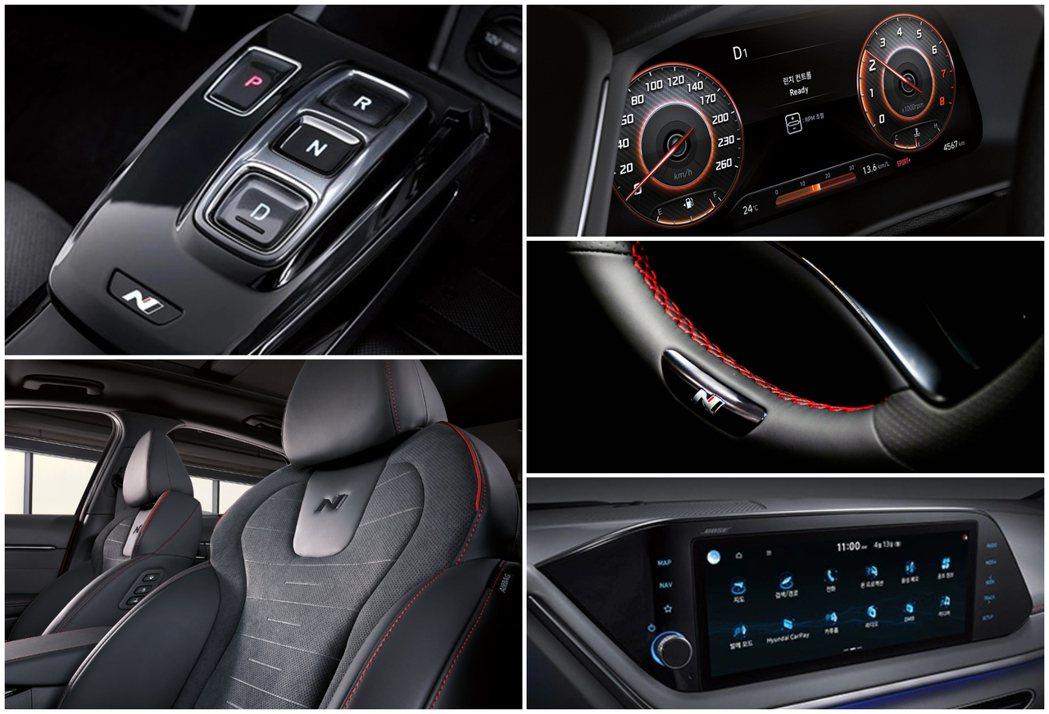 全新Hyundai Sonata N Line有著專屬N系列的內裝布局。 摘自H...