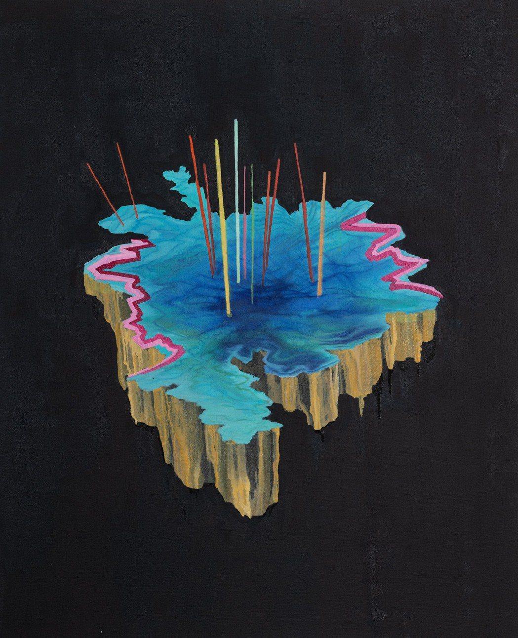 展覽亮點之一:挪威藝術家瑪利安.莫里(Marianne Morild)的系列畫作...