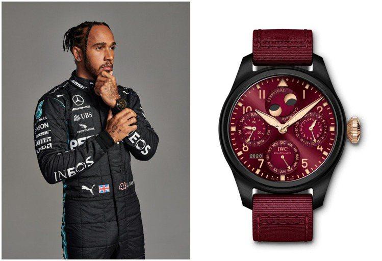 每次Lewis Hamilton譜寫佳績時,IWC常為其推出限量腕表,例如圖中右...
