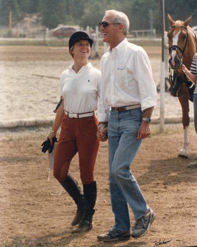 保羅紐曼與女兒Clea Newman,約1984年。圖/富藝斯提供