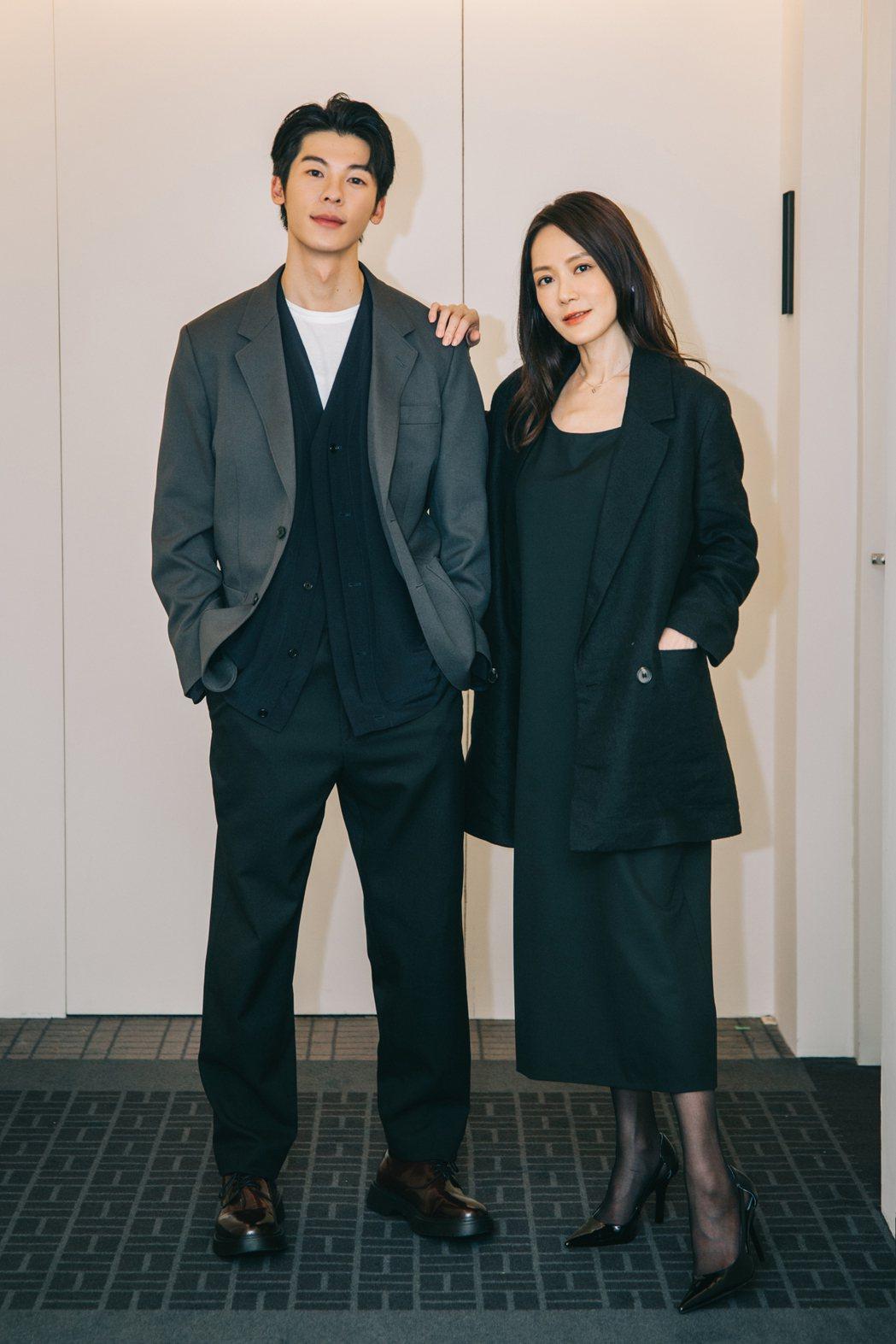 許光漢(左)跟尹馨初次同框合作。圖/何樂音樂提供