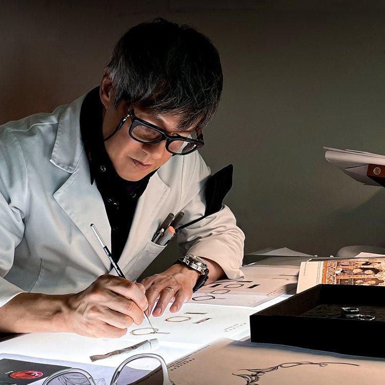 設計師方國強先生為不丹皇太后基金會量身訂製慈善。圖/Khieng ATELIER...