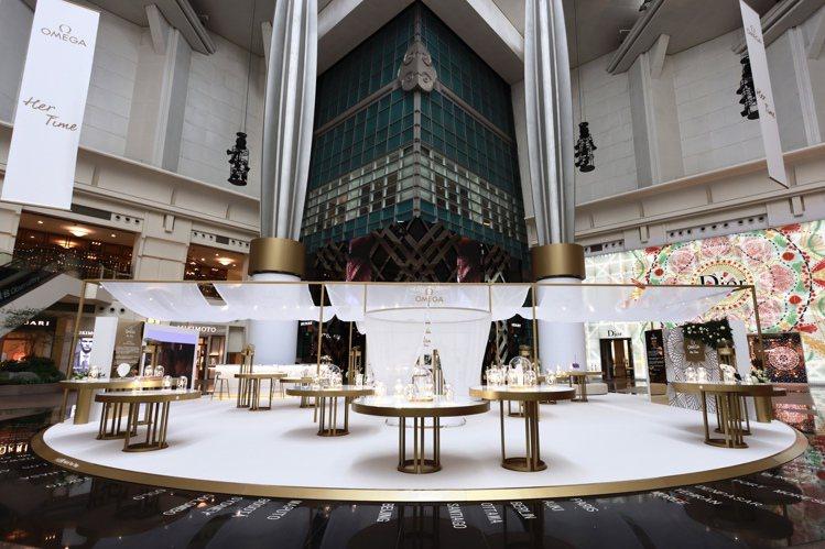 歐米茄(OMEGA)於101四樓中庭舉辦的「我的美麗時光」特展,已由即日起至11...