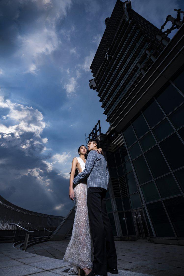 「天際婚攝專案」拍攝場景也包含台北101 91樓戶外觀景台。圖/LinLi Bo...