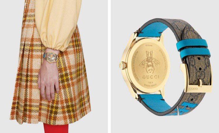 無分性別的GUCCI唐老鴨Disney限量聯名腕表,展現中性的好奇活力。圖 / ...