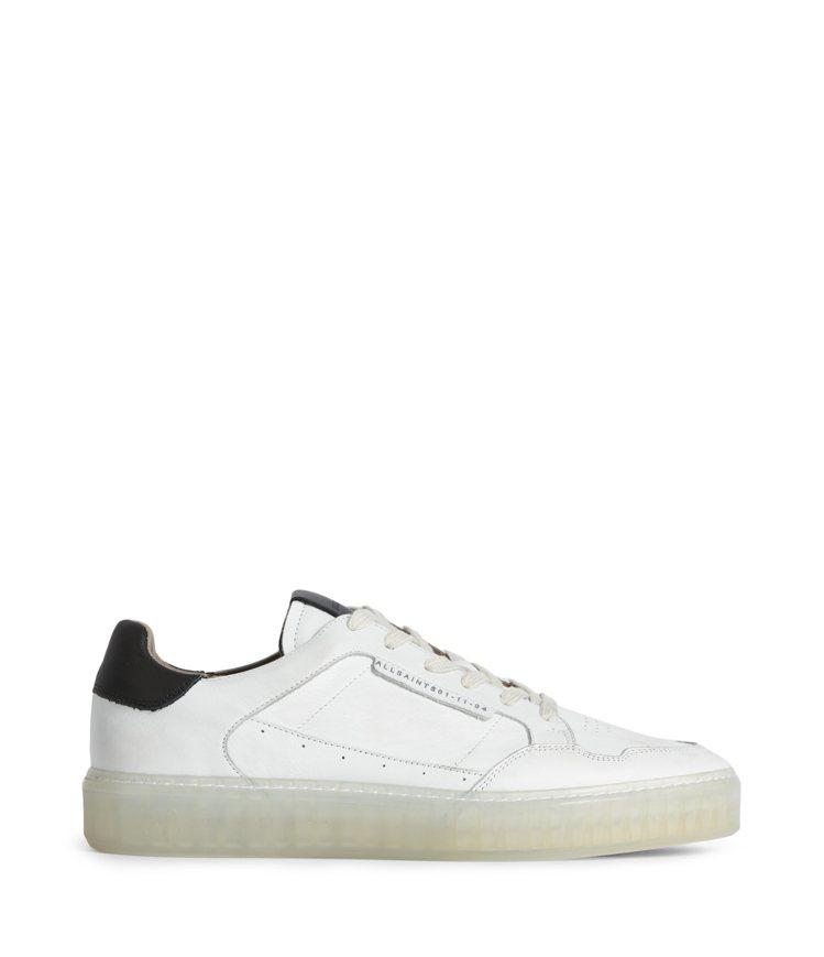 AllSaints Alton白色仿舊休閒鞋9,000元。圖/AllSaints...