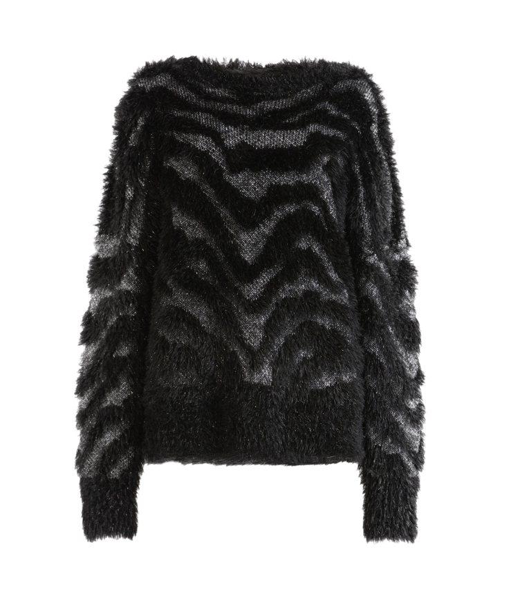 AllSaints Tiger虎紋金屬感針織上衣7,300元。圖/AllSain...
