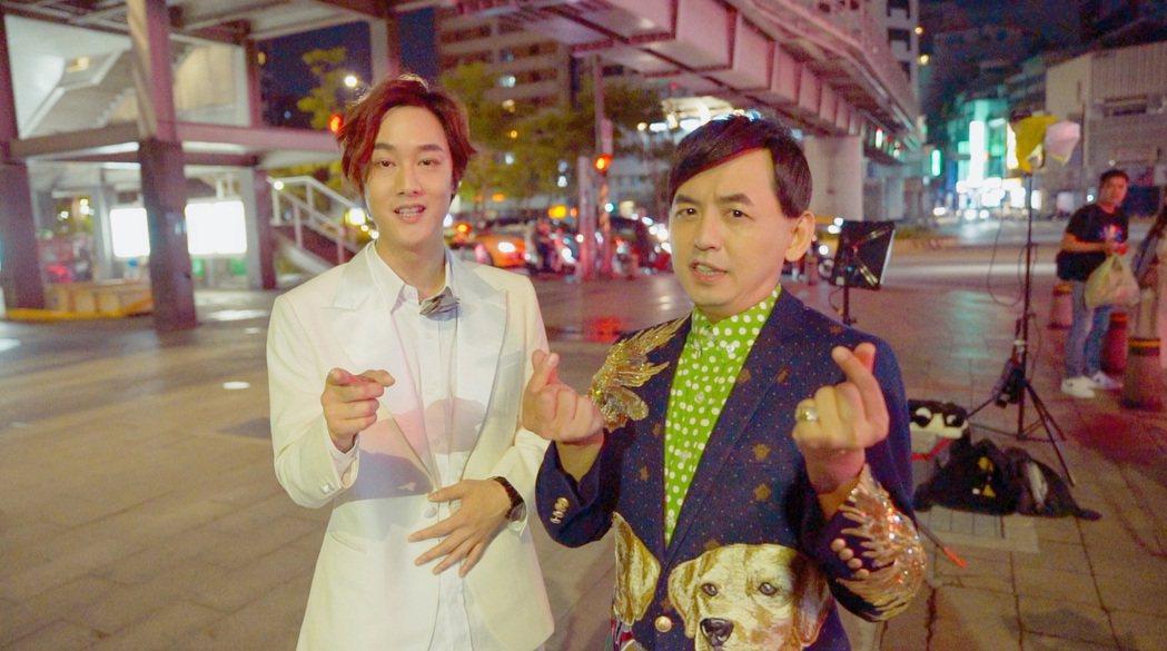 黃子佼(右)很欣賞KIM的才華。圖/那對夫妻提供