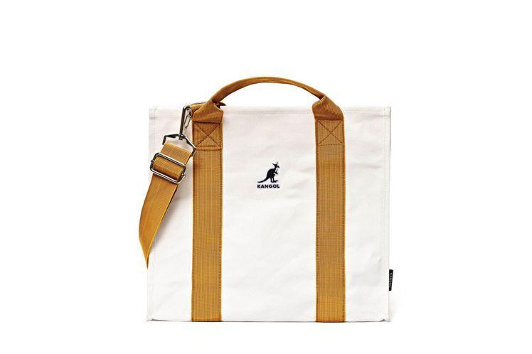 KANGOL橘織帶帆布包,市價880元,紅利點數10,000點,加價購499元。...