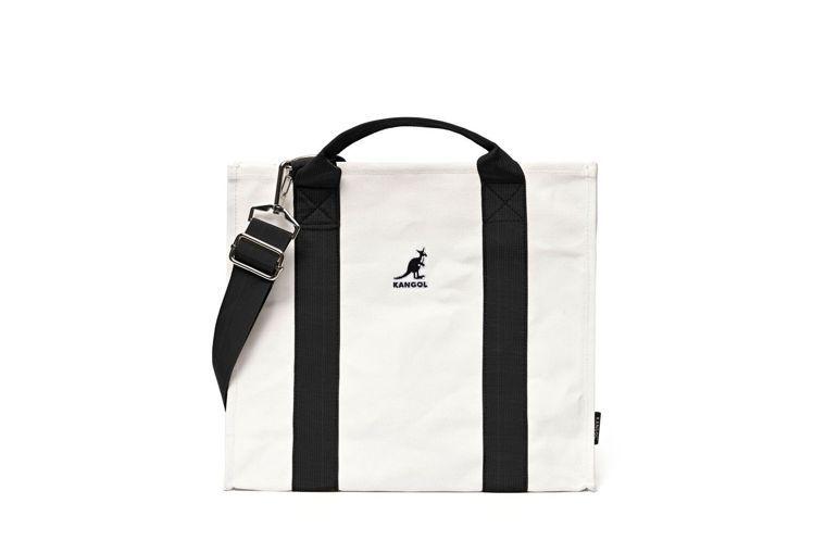 KANGOL黑織帶帆布包,市價880元,紅利點數10,000點,加價購499元。...