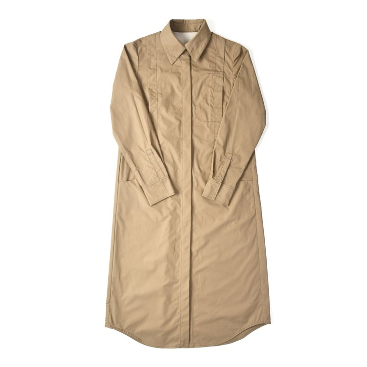 ADV_LABEL冬季連身襯衫洋裝。