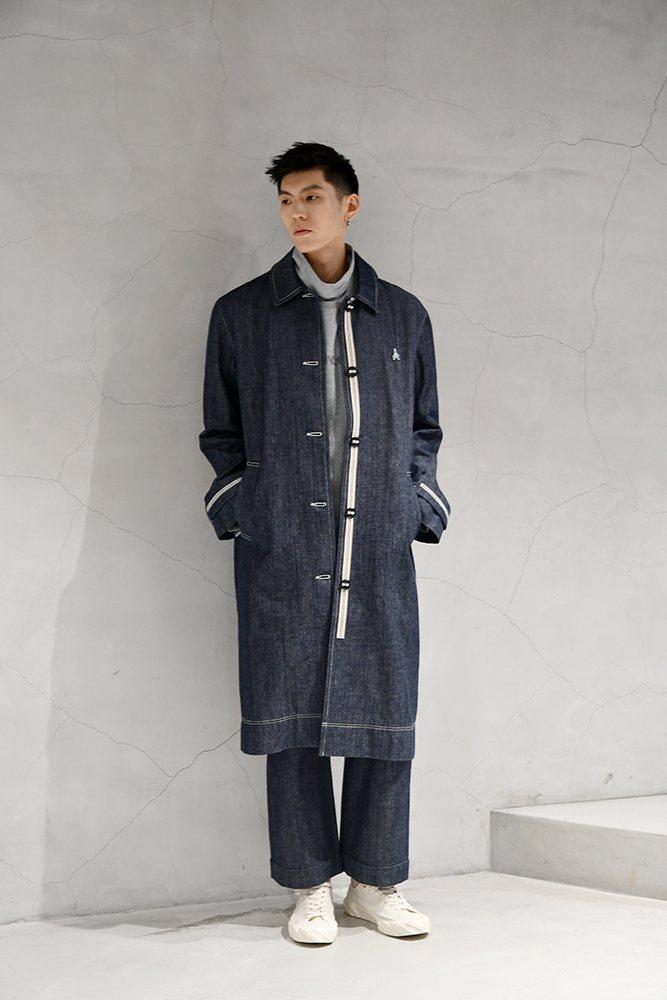男模演繹ADV_LABEL冬季系列服裝。圖/ADV_LABEL提供
