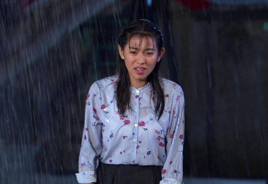 米可白在雨中悲情奔跑。圖/台視提供