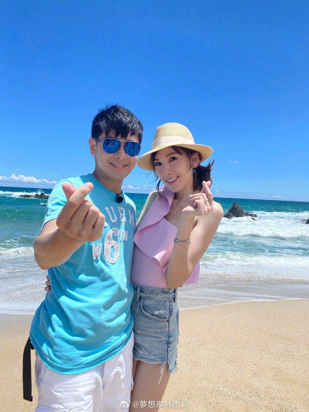 林志穎與老婆陳若儀。 圖/擷自林志穎微博