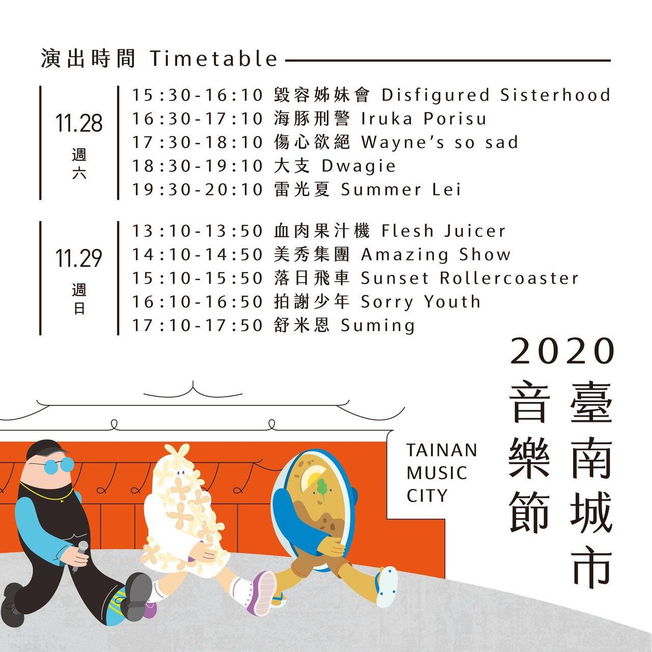 2020台南城市音樂節 圖/摘自台南城市音樂節粉絲專頁