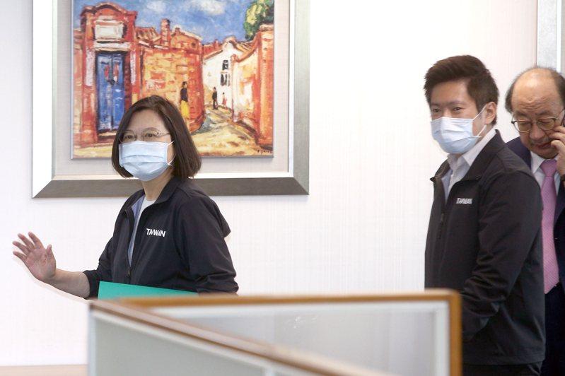 蔡英文總統(左一)今天下午主持民進黨中常會。記者蘇健忠/攝影