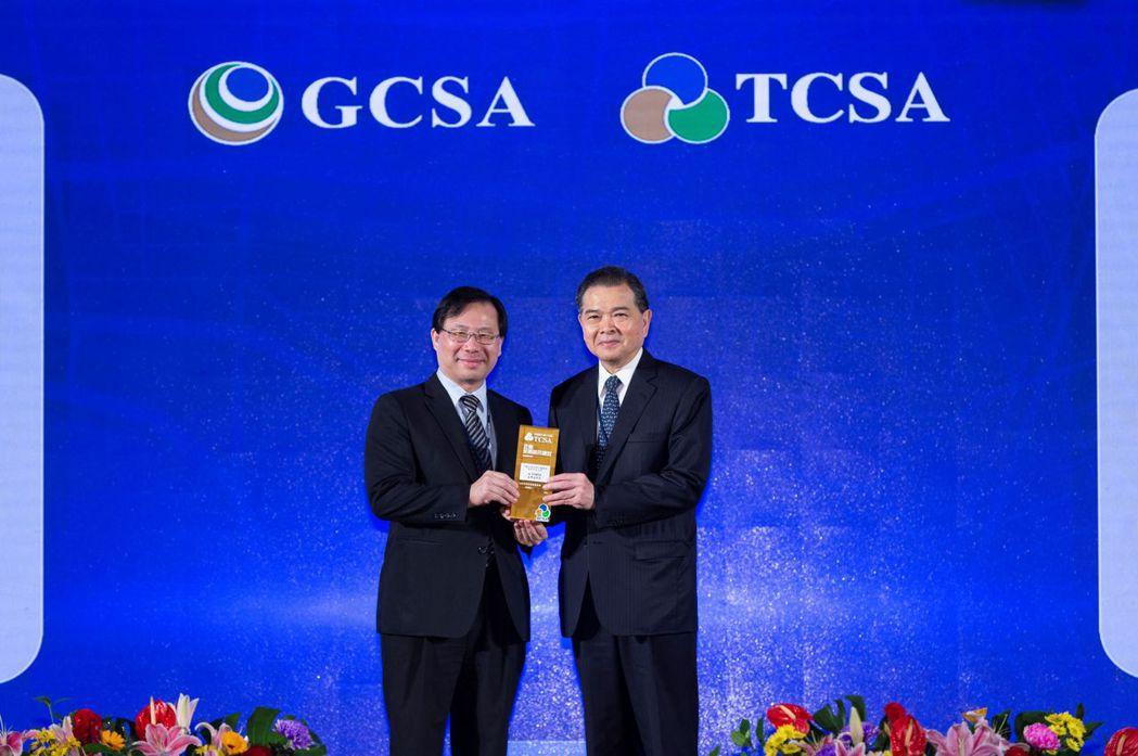 中石化公司陳瑞隆董事長親自出席TCSA頒獎典禮。中石化/提供