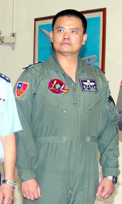駕駛F-16執行任務失聯的上校蔣正志 。聯合報系資料照片/記者程嘉文攝影