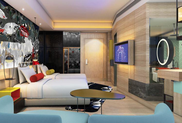 台北大直英迪格酒店高級客房。圖/台北大直英迪格提供