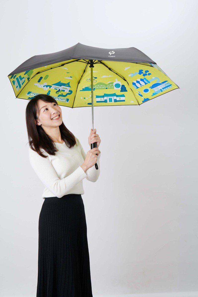 中捷與在地企業合作,推出晴天傘。圖/中捷提供
