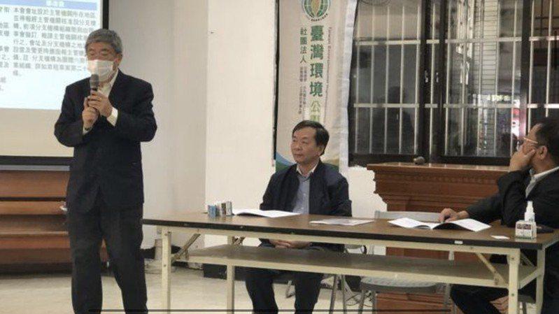 台中市前環保局長洪正中連任台灣環境公義協會理事長,提倡小水力發電產業,不但發電還可儲水。圖/台灣環境公義協會提供