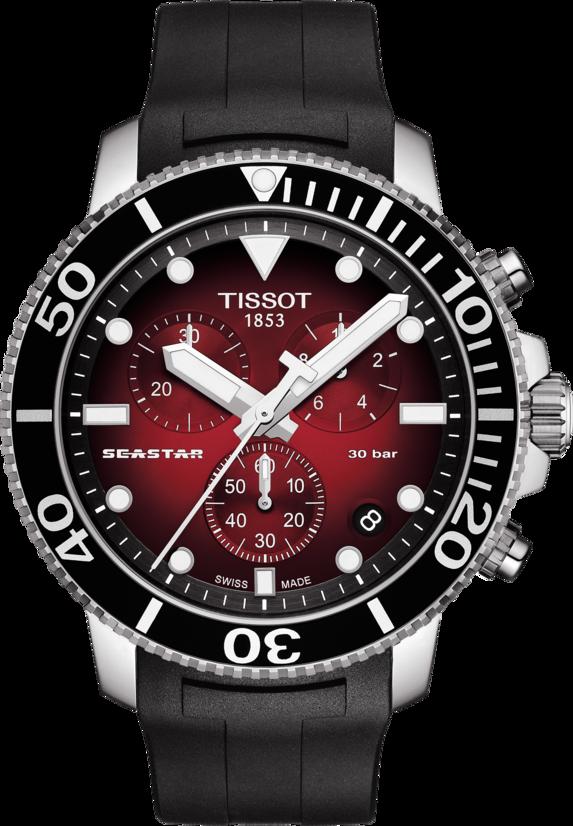 天梭表Seastar 1000海星系列計時碼表,不鏽鋼表殼搭載石英機芯,約16,...