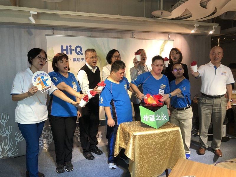 中華台北特殊奧運會的特奧小英雄傳遞希望之火。記者鍾維軒/攝影