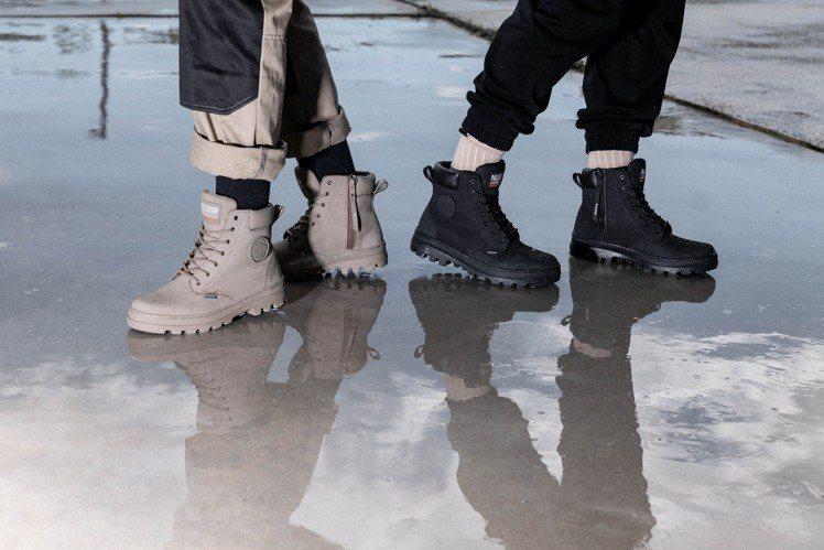 PALLABOSSE SC凜冬美靴,具備招牌的橘標防水技術,並在靴身內側加入拉鍊...