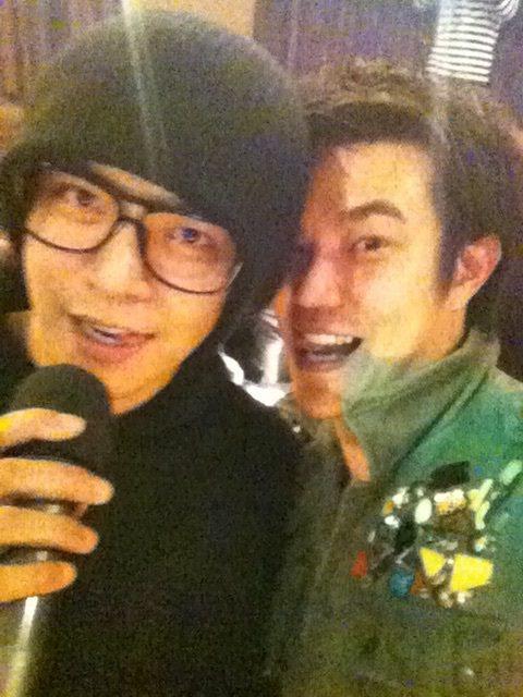 小豬羅志祥和余政鴻(右)是高中同班同學,余政鴻是班長,畢業後也曾一起出席同學會。...