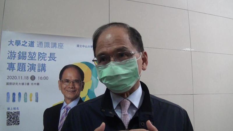 立法院長游錫堃談中天撤照案,指尊重NCC。記者王昭月/攝影