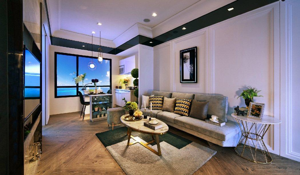 「愛琴海」高樓層住宅擁有海景,休閒氛圍強烈。 圖/興富發建設股份有限公司 提供