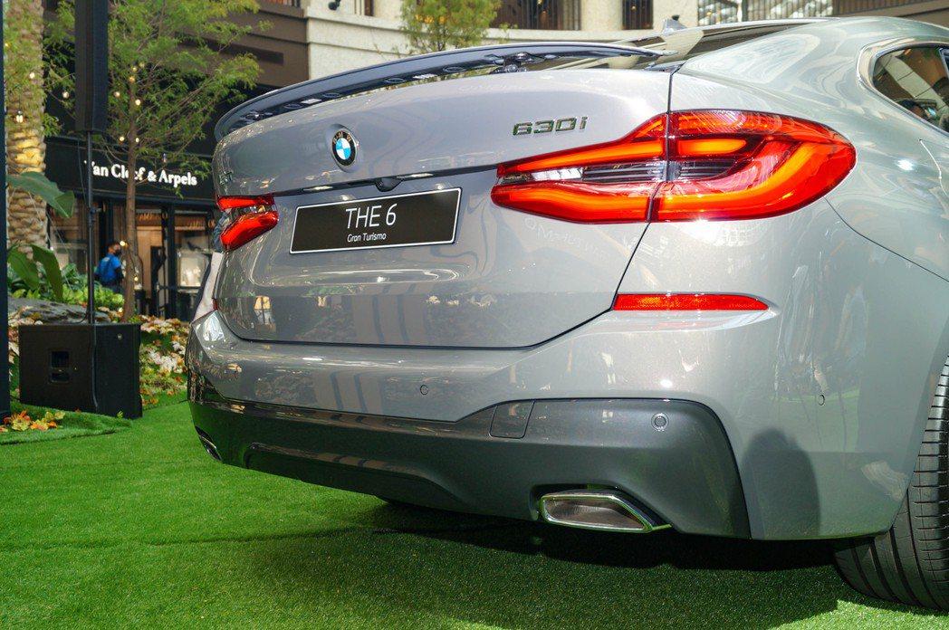 小改款BMW 6 Series Gran Turismo車尾配置的主動式擾流尾翼...