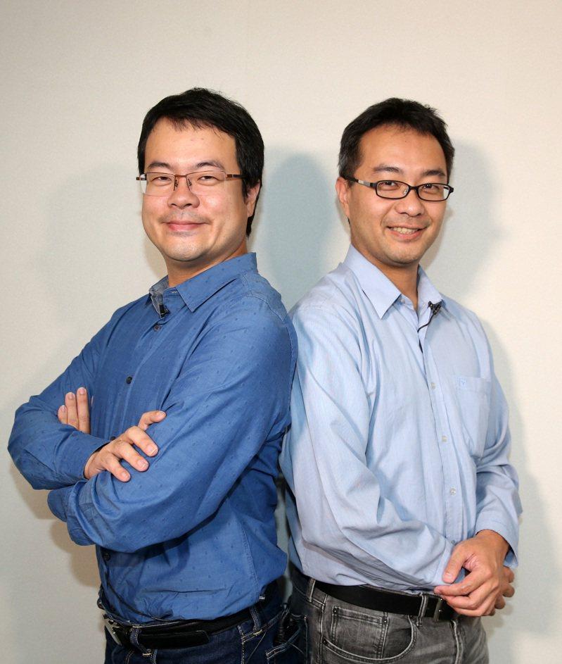 創業家兄弟董事長郭書齊(左)、松果購物董事長郭家齊(右)。記者曾吉松/攝影