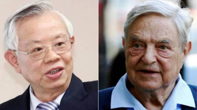 中央銀行前總裁彭淮南(左)、有金融巨鱷之稱的索羅斯(右)。報系資料照、路透