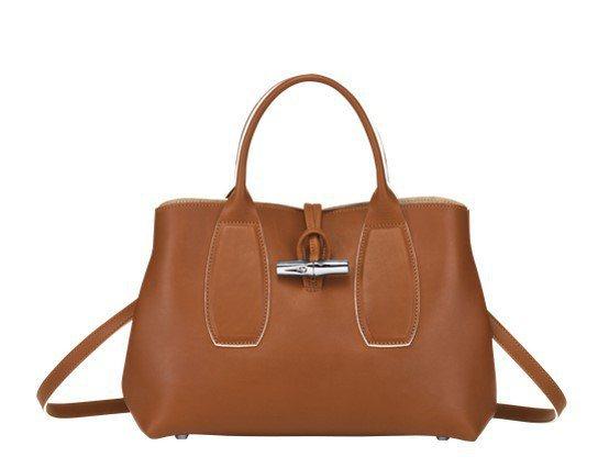 Roseau白蘭地酒色M手提包,37,400元。圖/LONGCHAMP提供