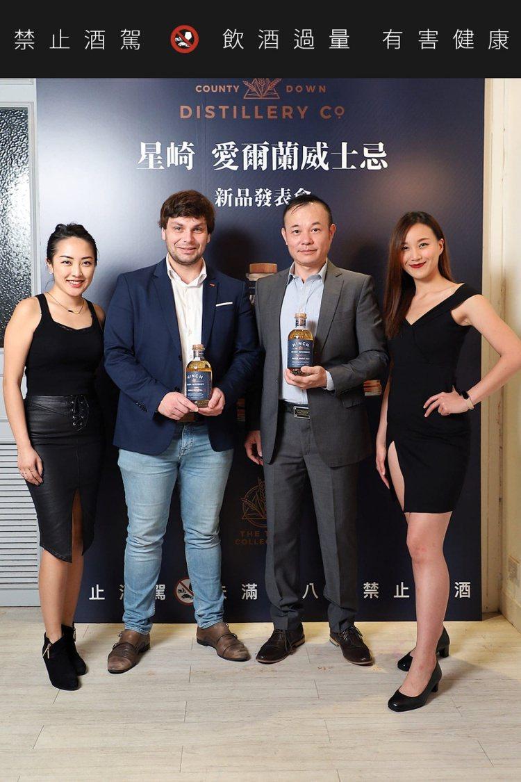 香港商班德威大中華區域經理Sergei Naboichenko(左二),與香港商...