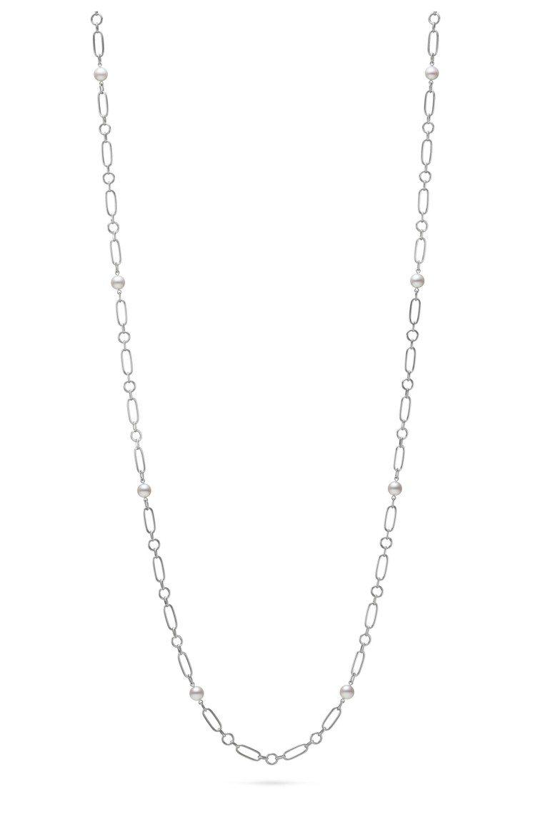 MIKIMOTO M Code系列珍珠長項鍊白K金款,83公分,19萬8,000...