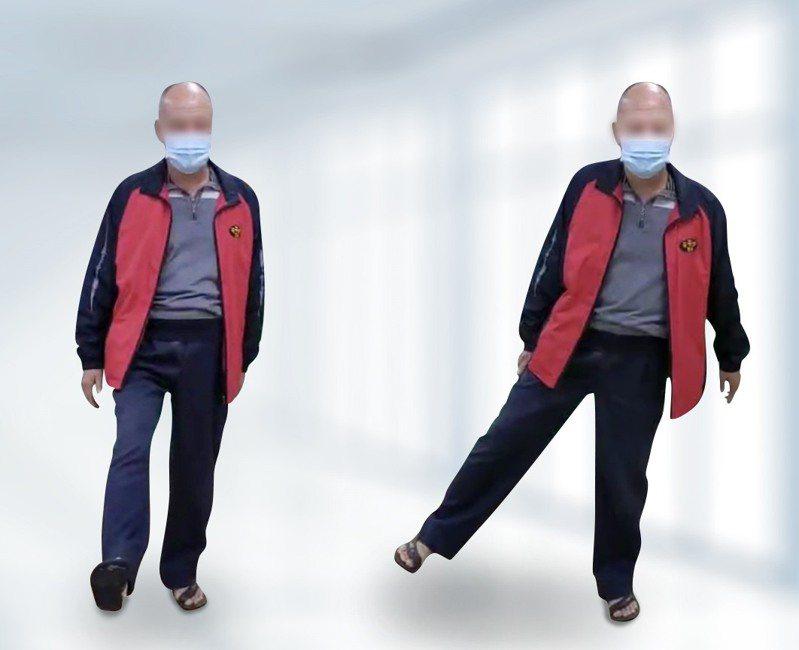簡姓老翁術後當天就能下床行走,現在已經可以活蹦亂跳,甩開跛行舊疾。圖/羅東博愛醫院提供。