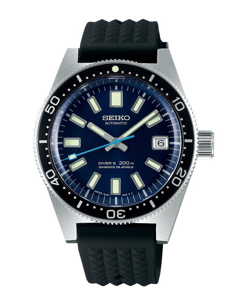 Seiko Prospex 1965復刻紀念款腕表,白鋼表殼搭載8L35機械機芯...