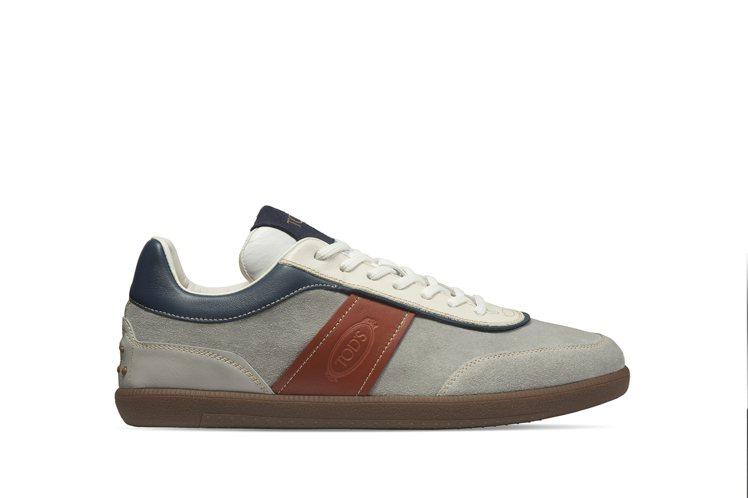 TOD'S復古麂皮拼接男女士休閒鞋,23,000元。圖/迪生提供
